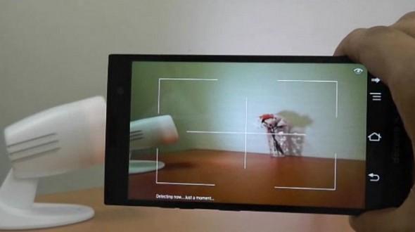 Fujitsu's high-tech light bulb shines data on objects