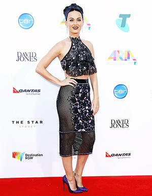 Katy Perry Ditches Her Undies in See-Through Floral Skirt at the 2014 ARIA Awards: See the Racy Red Carpet Look!