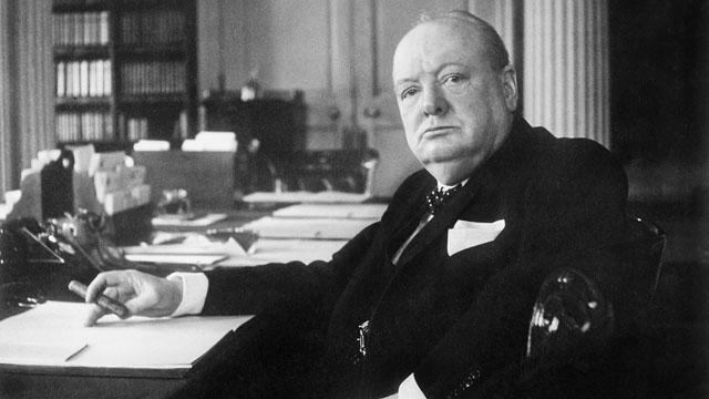 Winston Churchill, photographed by Cecil Beaton, at 10 Downing Street, London, in 1940.