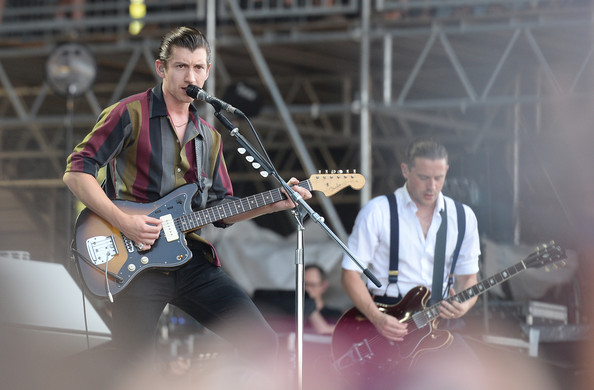 Alex Turner of the Arctic Monkeys performs during the 2014 Bonnaroo Music & Arts Festival