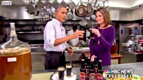 Barack Obama Sips Beer After Sharing Super Bowl Predictions