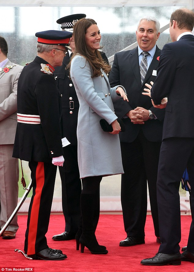 William and Kate met with leading members of the community during their visit to the refinery