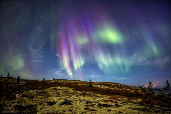 Northern lights in the sky over Murmansk region, Russia, photo 8