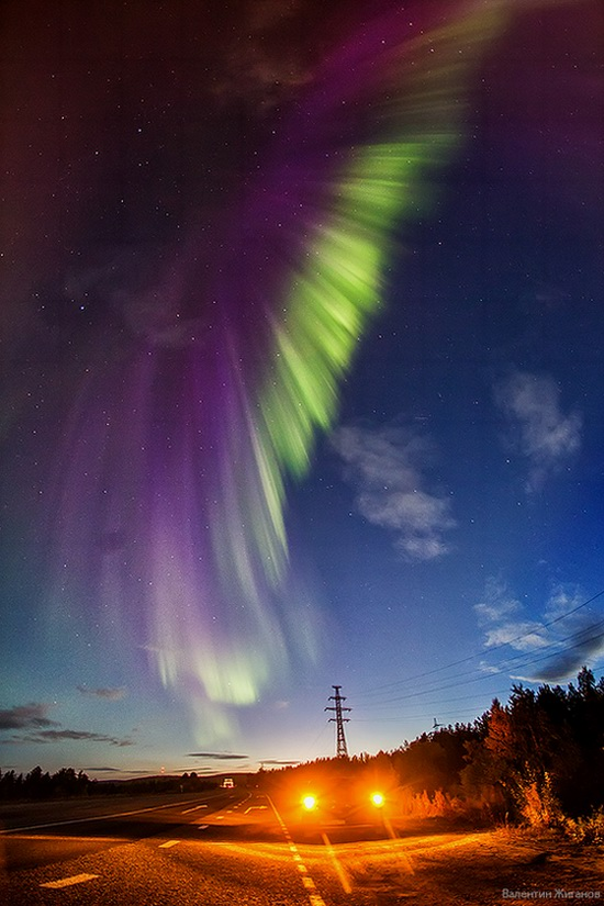 Northern lights in the sky over Murmansk region, Russia, photo 7