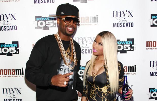 Safaree assisting Nicki Minaj with her lyrics