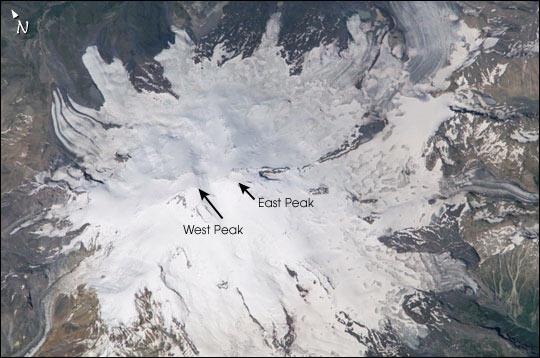 Mount Elbrus, the highest mountain in Europe