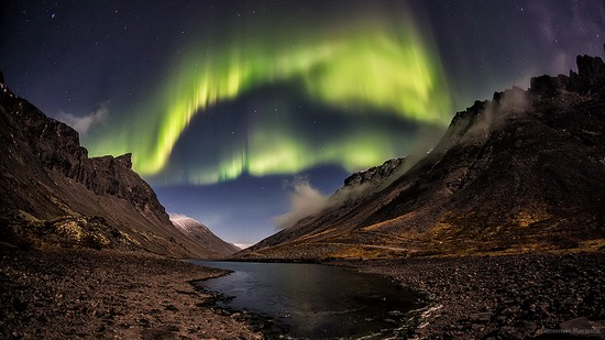 Northern lights in the sky over Murmansk region, Russia, photo 2