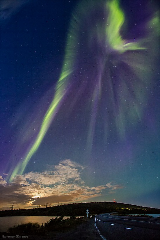 Northern lights in the sky over Murmansk region, Russia, photo 3