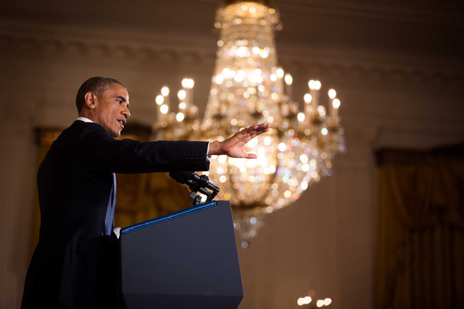 After Election, Obama Vows to Work With, and Without, Congress