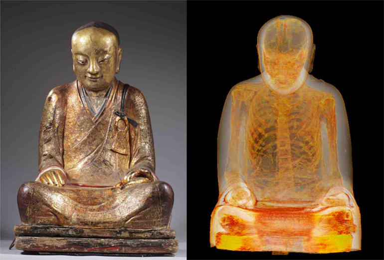 CT scan finds mummified monk inside 1,000-year-old Buddha