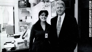 Lewinsky poses for a photo with President Clinton in this image submitted as evidence by Kenneth Starr\'s investigation and released by the House Judicary committee in September 1998.
