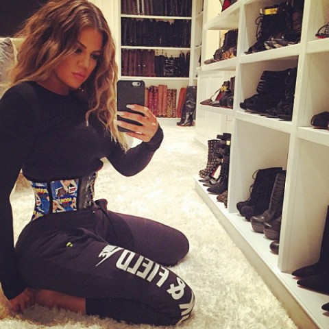 Khloé Kardashian's Waist Looks Terrifyingly Tiny