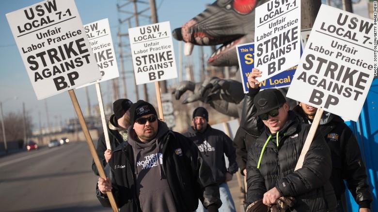 oil refinery strike