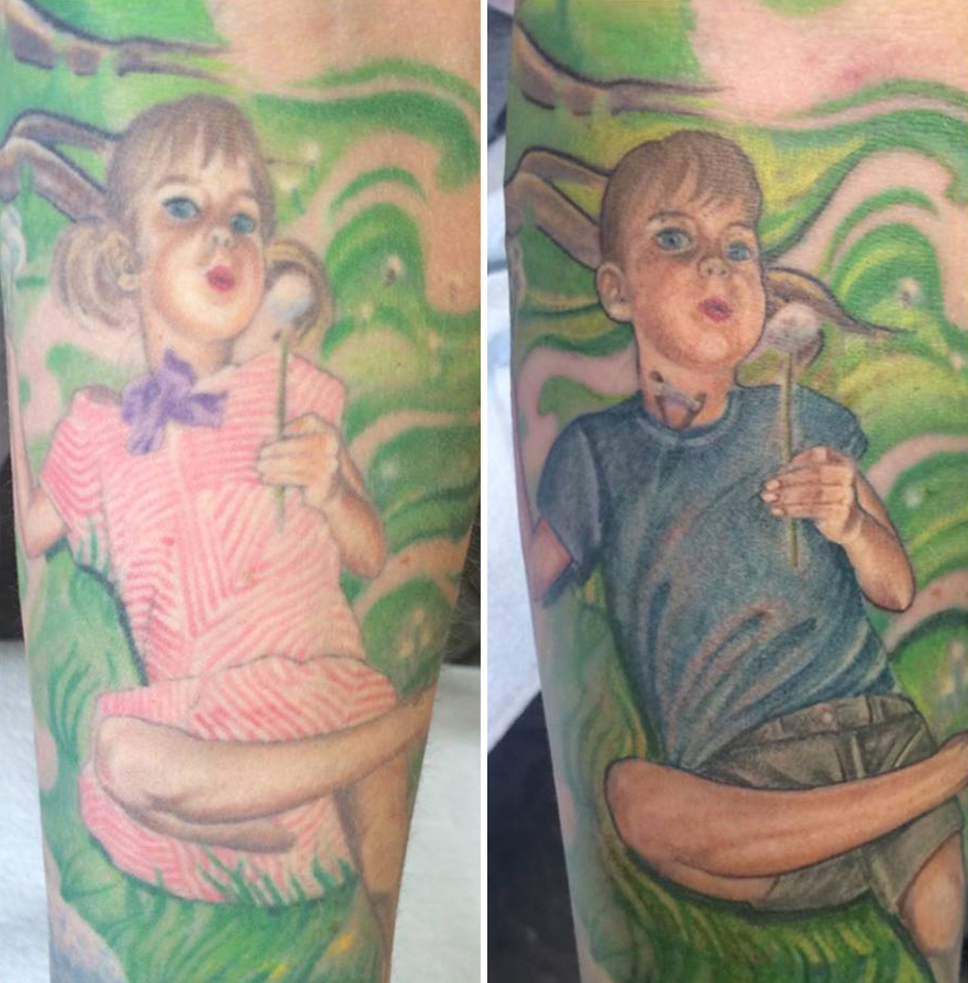 Mom Updated Her Tattoo To Support Transgender Son