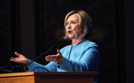 Hillary Clinton highlights gender pay gap ahead of likely presidential bid