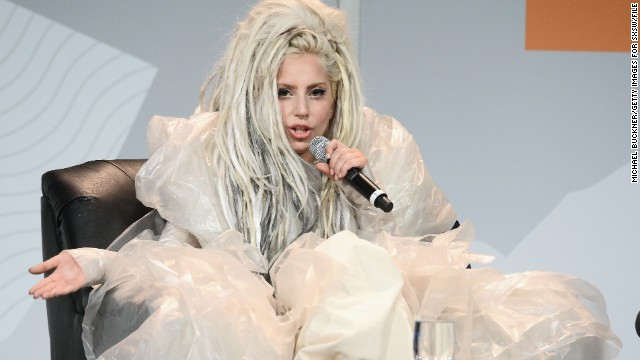 "Lady Gaga gave a performance at the 2014 SXSW festival that included ""vomit art,"" which she later explained at a keynote address was all about promoting the freedom of artistic expression. ""Things that are really, really strange and feel really wrong can really change the world,"" she said.  <div id="