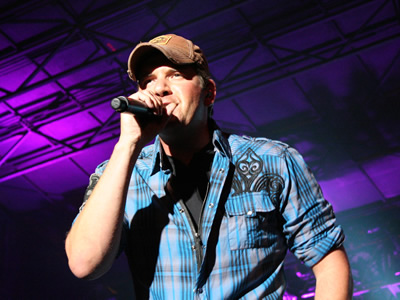 Rodney Atkins on stage during the Music City Gives Back concert held in Downtown Nashville