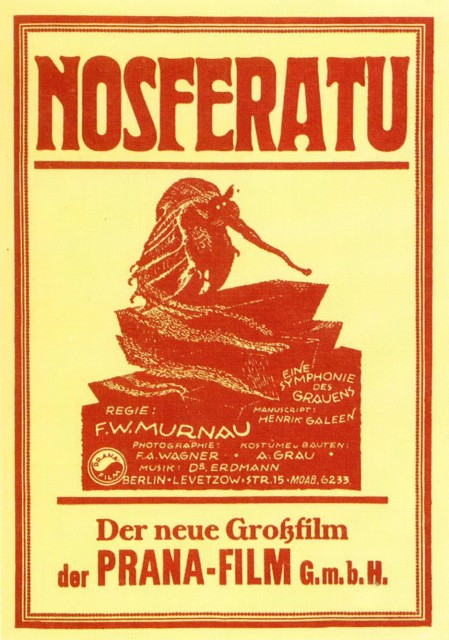 Coming Soon (FOR REAL): Nosferatu, (Murnau, 1921)