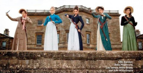 First Look: Bennett Sisters Armed in 'Pride & Prejudice & Zombies'