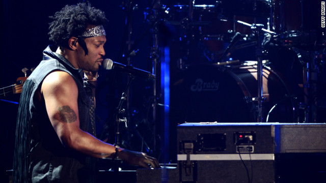 D'Angelo performs onstage during the 2012 BET Awards at The Shrine Auditorium on July 1, 2012 in Los Angeles, California.