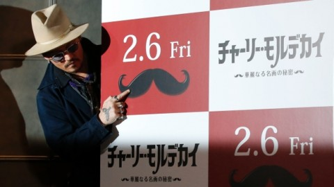 Johnny Depp attacked by a 'chupacabra' in Japan