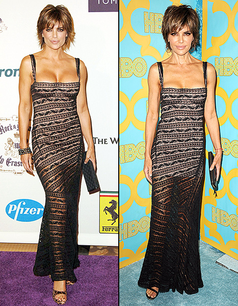 Lisa Rinna Rewears 10-Year-Old Dress: See How Much She (and Her Boobs) Have Changed