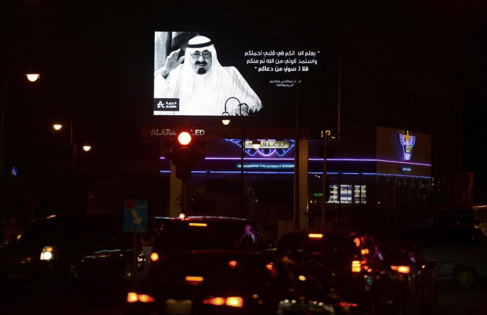 World leaders in Saudi Arabia to pay tribute to late king