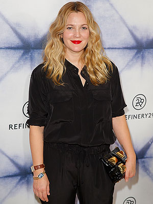Drew Barrymore Refinery29 Holiday Party