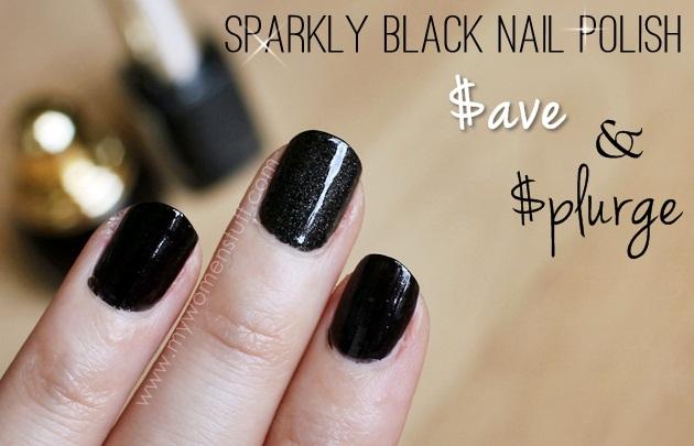 Save and Splurge: Sparkly Black Nail Polish