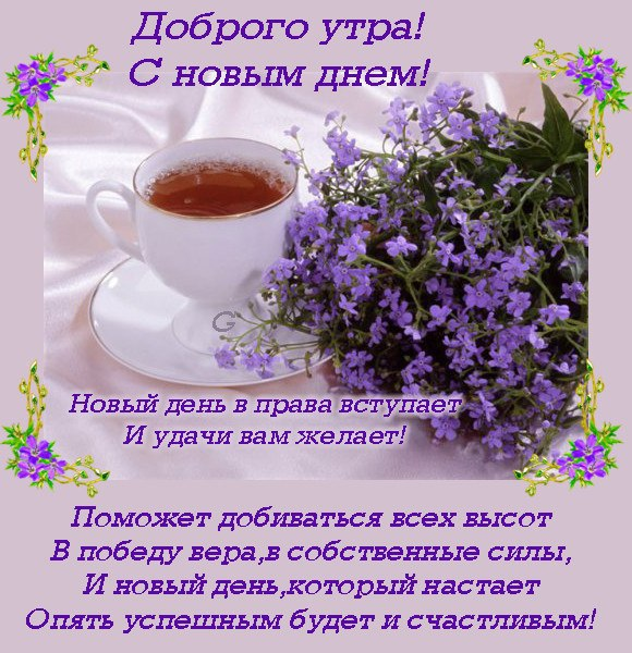 Красивое пожелания доброе утро хорошего дня в прозе
