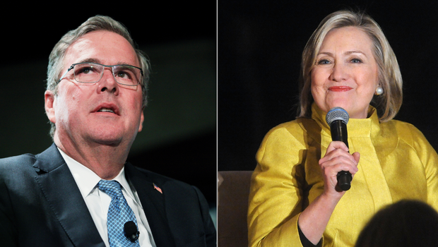 Hillary Clinton or Jeb Bush: Which do millionaires prefer for 2016?