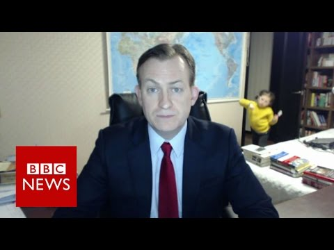 Man Tries To Give Serious BBC Interview, Forgets He Has Children