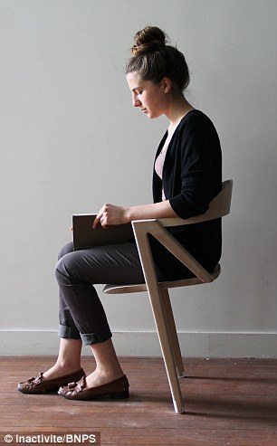 Would YOU sit on this chair to live longer? Two-legged design forces people to move - reducing risk of cancer and heart disease