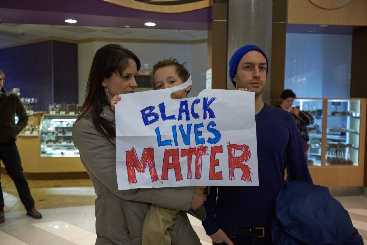 On racial issues, America is divided both black and white and red and blue