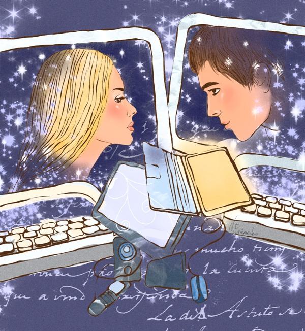 виртуальное знакомство в прозе
