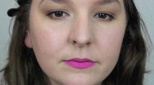 Bright Pink Matte Lipstick