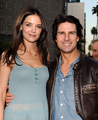 Katie Holmes and Tom Cruise Despite their difference in age—and height—Katie Holmes and Tom Cruise were married for five years and have a daughter, Suri, together. (Cruise also has two children from his marriage to Nicole Kidman.) They split in 2012. Cruise attended Glen Ridge High School in Glen Ridge, New Jersey, where he was a senior in 1980, and Holmes was a 4.0-GPA senior at Notre Dame Academy in Toledo, Ohio, in 1997.