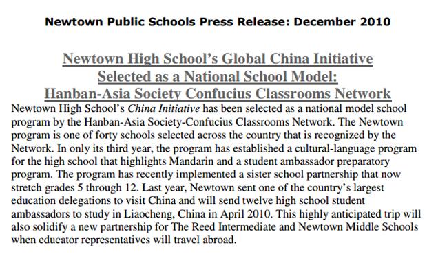 Newtown China Initiative