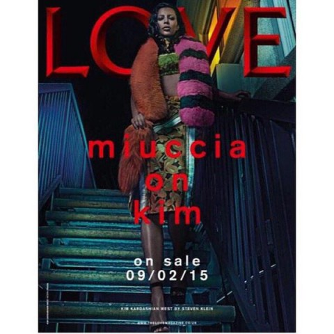 Kim Kardashian Is Nearly Unrecognizable on the Cover of Love Magazine