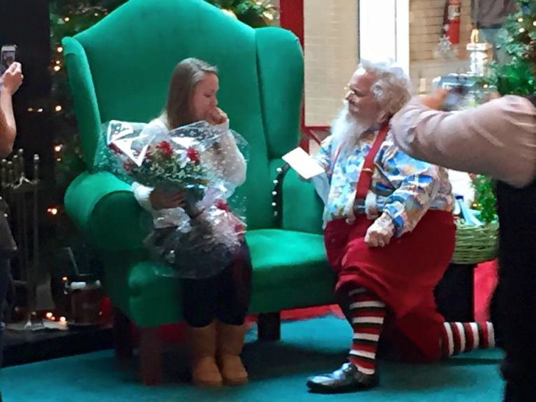 A Soldier in Afghanistan Used a Mall Santa to Propose to His Girlfriend