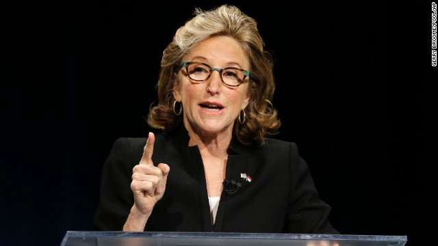 U.S. Sen. Kay Hagan, a Democrat seeking a second term in North Carolina, debates her Republican challenger, Thom Tillis, on October 7.