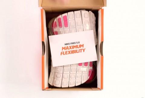 Nike Shrinks Shoebox to advertise new Flexible Shoes