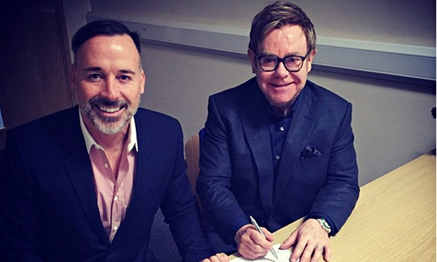 Elton John marries his long-term partner David Furnish