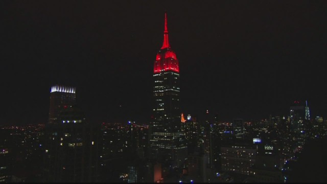 Why the Empire State Building turned red
