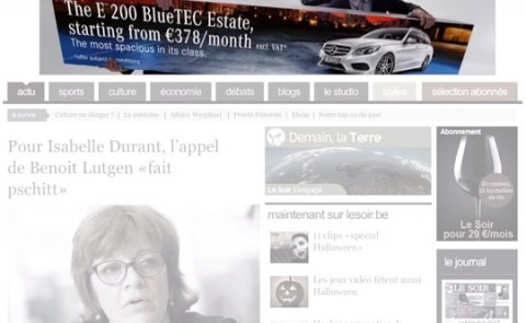 BBDO Creates 'Transportable Banner' to Illustrate Interior Spaciousness of Mercedes E-Class Estate