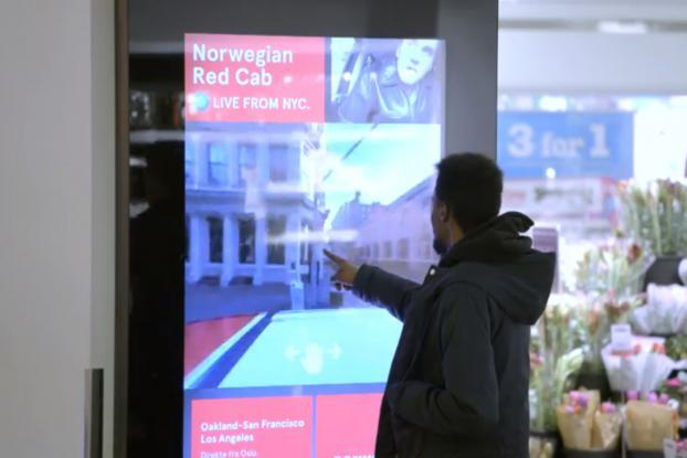 Norwegians Take a Virtual Taxi Ride Around NYC in Shopping Mall Stunt