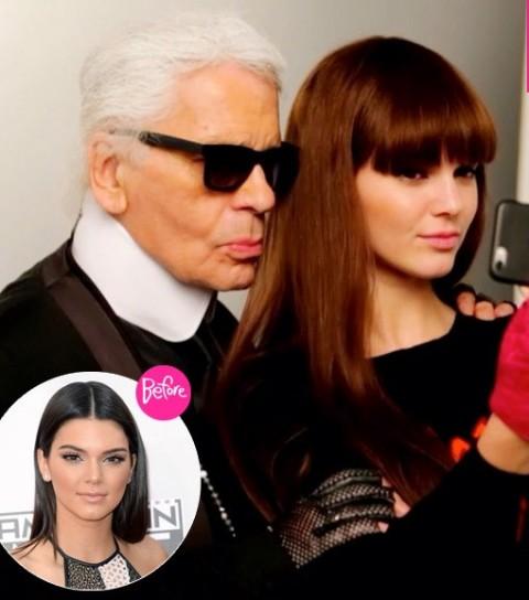 Kendall Jenner's Karl Lagerfeld Campaign - Rocks Bold Cut Bangs