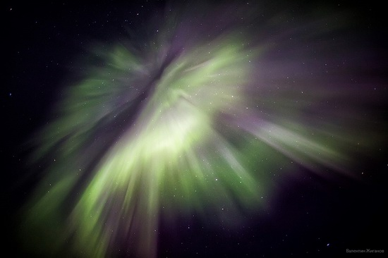 Northern lights in the sky over Murmansk region, Russia, photo 5