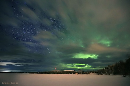 Northern lights in the sky over Murmansk region, Russia, photo 22