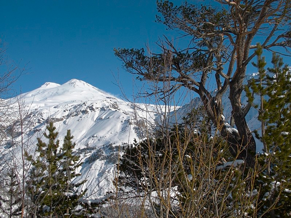 Mount Elbrus, the highest mountain in Europe